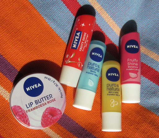 Brasilien Nivea Lip Care Lip Butter Framboesa Rose Fruity Shine Fresa Morango Puro Natural Menta Mel e Leite Fruity Shine Melancia