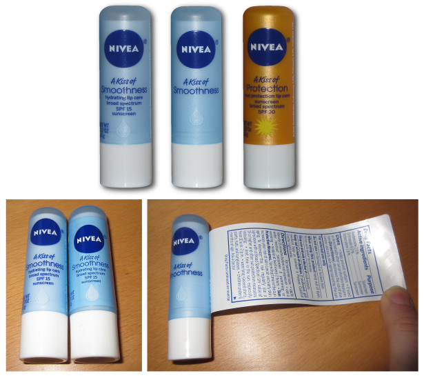 USA 2014 Nivea Lip Care Nivea A Kiss of Smoothnes Hydrating Nivea A Kiss of Protection