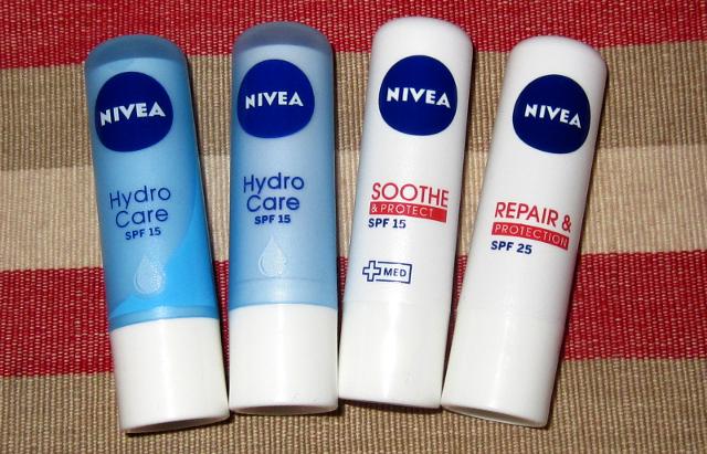 Vergleich Nivea Irland Australien Nivea Soothe&Protect Nivea Repair&Protection Nivea HydroCare